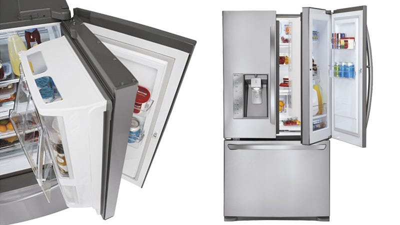 Illustration for article titled This Double-Doored Fridge Has Extra Space for Your Condiment Collection