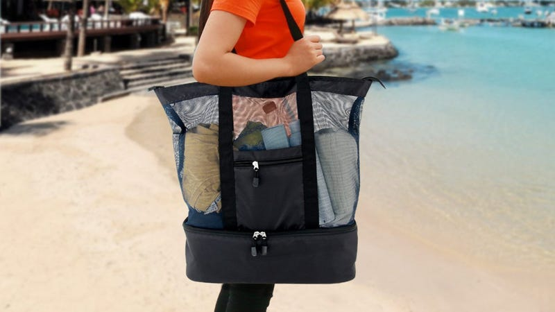 Mesh Beach Bag with Cooler, $12 with code 9FAB88JA
