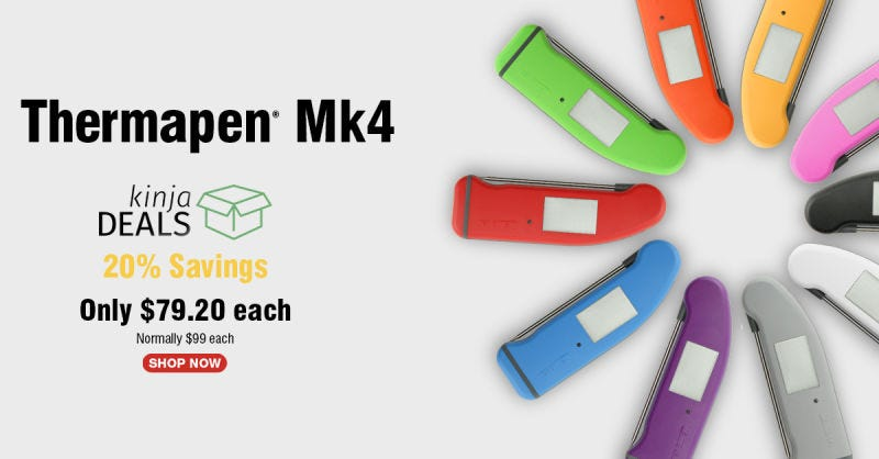 Thermapen Mk4   $79   ThermoWorksGráfico: ThermoWorks
