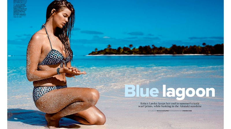 Illustration for article titled Stunning Photos Of Plus-Size Swimwear Model Robyn Lawley