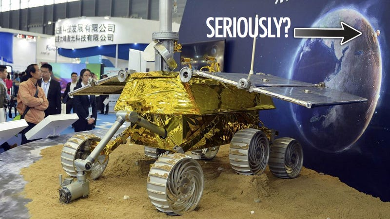 Illustration for article titled Chinese rover diorama shows Europe being nuked