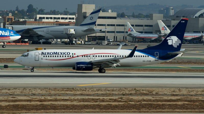 Boeing 737-800 de Aeromexico similar al involucrado en el incidente (Wikimedia)