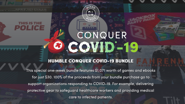 Get a Massive Collection of PC Games, Books, and Comics by Donating to COVID-19 Relief