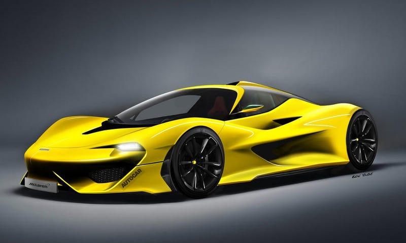 Concepto de cómo lucirá el McLaren Hyper GT, por AutoCar.