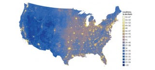 Illustration for article titled The Loudest and Quietest Places in the U.S., Mapped