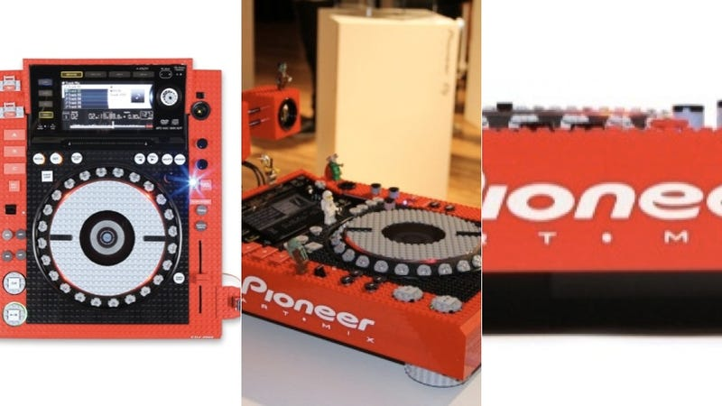 Illustration for article titled Lego-Crusted Pioneer Turntable Combines Two of Your Most Favorite Playthings