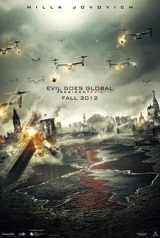 Illustration for article titled Residen Evil: Retribution 3D Poster & Banner