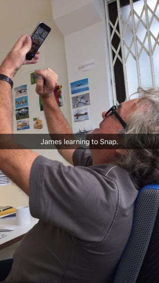 Illustration for article titled Rejoice, James May has a Snapchat account
