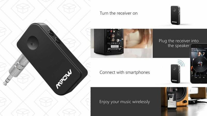 Mpow Streambot Bluetooth Receiver, $12 with code OTLMBV82