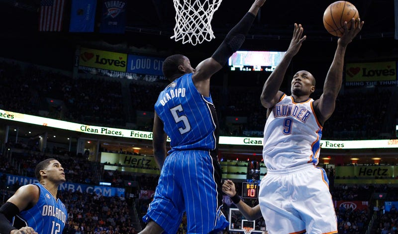 Steven Adams' Thunder team-mate Ibaka traded to Magic for National Basketball Association draft pick