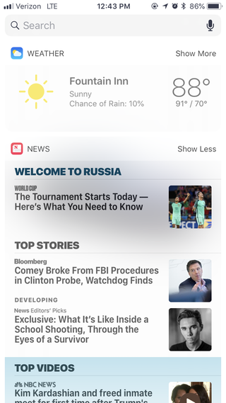 Illustration for article titled The news in my phone says welcome to Russia