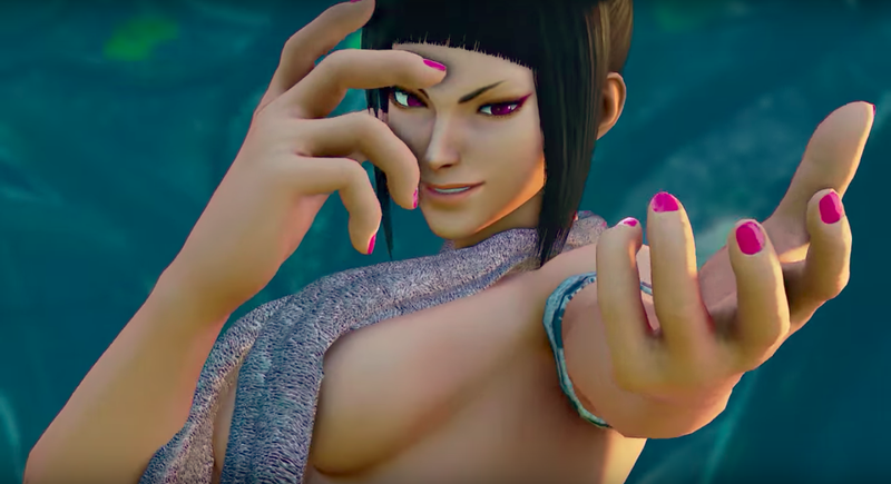 "Brutal Ace's ""Shower Time"" mod for Juri in Street Fighter V (via YouTube)"