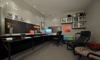 Todayu0027s Featured Workspace Is A From The Ground Up Conversion Of A Garage  Into An Awesome Home Office Complete With A Custom Polished Steel Desk, Well Done  ...