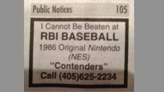 Illustration for article titled Call This Number If You Think You Can Beat Some Guy In R.B.I. Baseball
