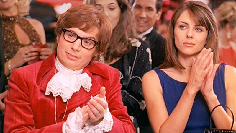 Mike Myers and Elizabeth Hurley in Austin Powers: International Man Of Mystery