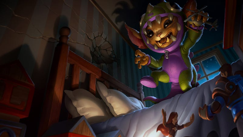 Illustration for article titled Play League Of Legends As A Cuddly Monster Dressed As A Dinosaur