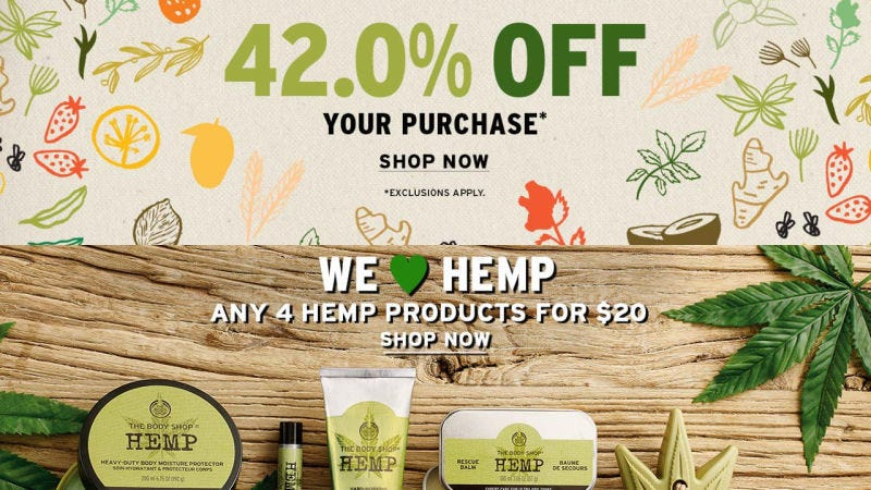 42% de descuento en tu compra   4 por $20 en productos de cáñamo