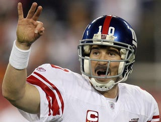 Illustration for article titled Eli Manning Finishes Super Bowl With Thick, Bushy Mustache
