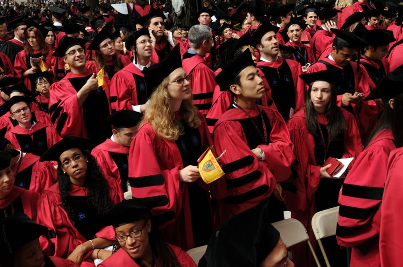 Class of 2009 graduates at Harvard (Darren McCollester/Getty Images)