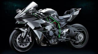 Illustration for article titled The Supercharged Kawasaki Ninja H2R Is Batshit Insane