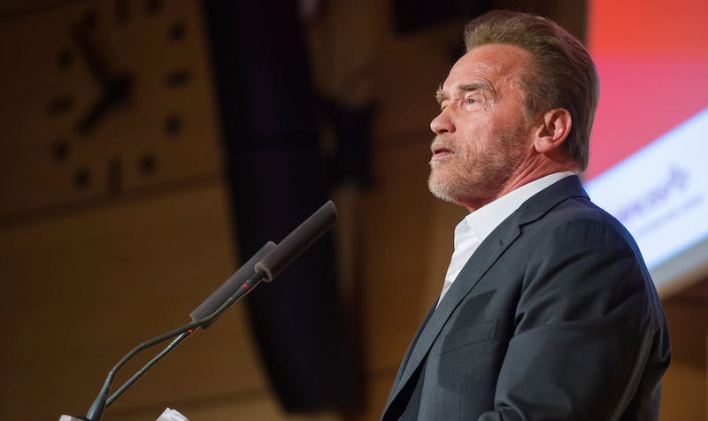 Illustration for article titled Arnold Schwarzenegger Urges Climate Conference to 'March Forward Relentlessly, Like a Terminator'