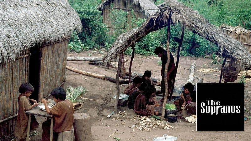 A remote Amazon tribe.