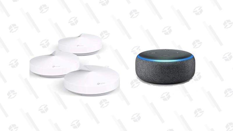 TP-Link Deco Whole Mesh Wifi System + Echo Dot | $150 | Amazon