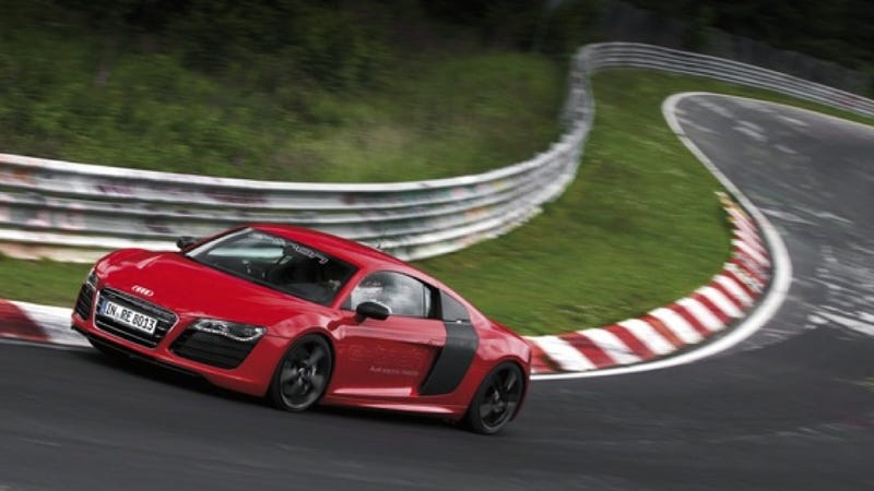 Illustration for article titled The Electric Audi R8 e-Tron Set An 8:09 Nürburgring Lap 'Record'