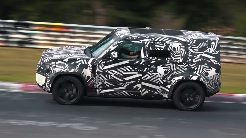 Illustration for article titled The New Land Rover Defender Is Being Track Tested at the Nürburgring?