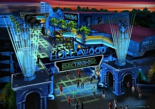 Illustration for article titled Concept art for Disney new Tron theme park, ElecTRONica