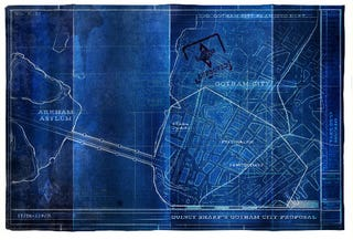 Illustration for article titled Hidden blueprints show the plans for Arkham City