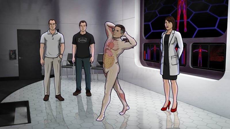 """Illustration for article titled Archer Gang Gets """"Dr. Shrinkered"""" On What Could Be Their Last Mission"""
