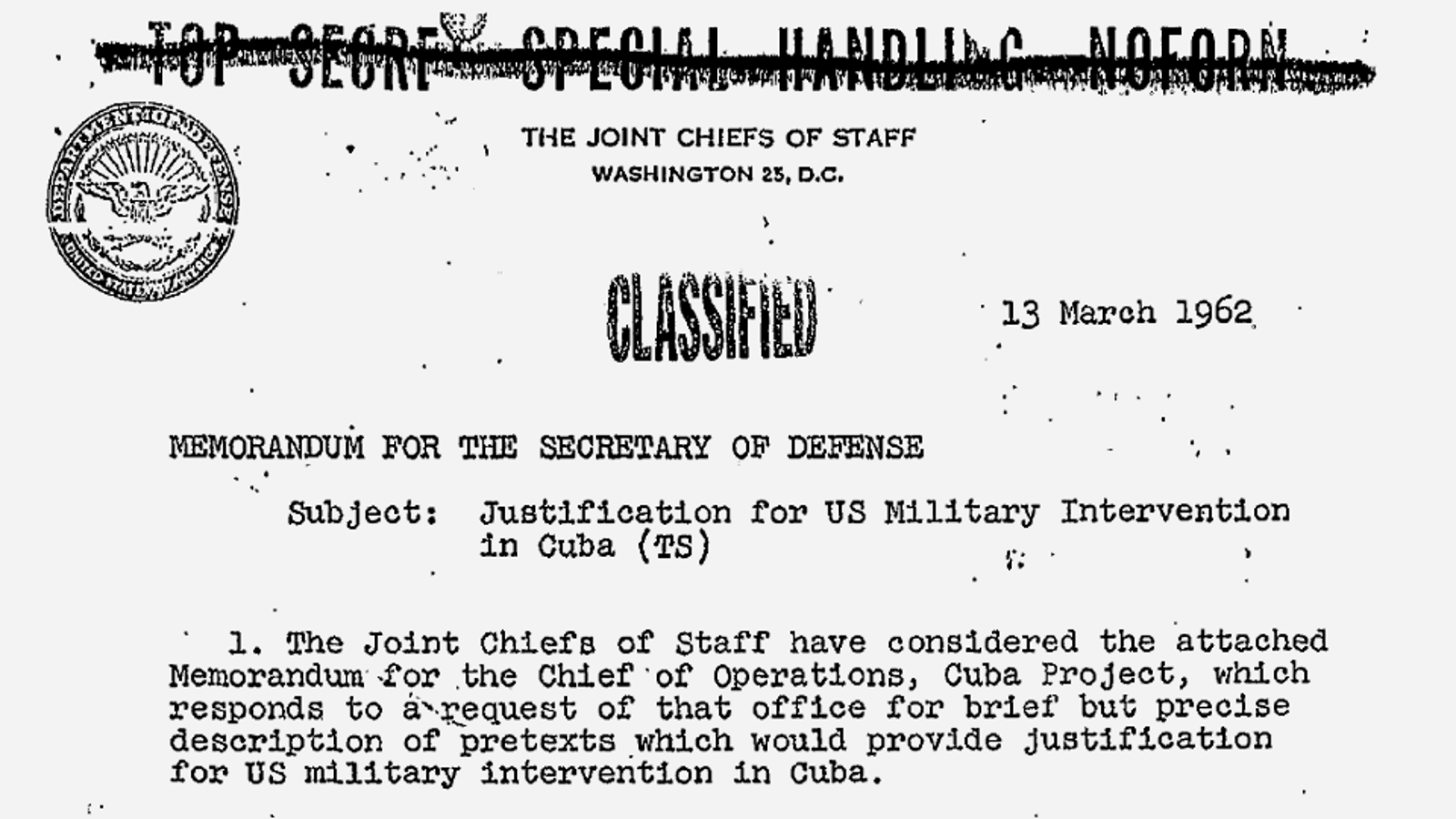 Operation Northwoods, the 1960s government plan to fake