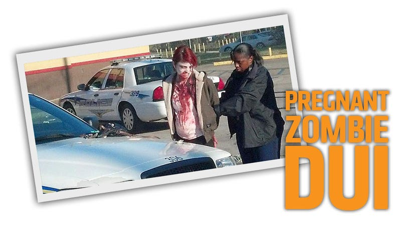Illustration for article titled Unconscious Bloody Woman In SUV Not Dead, Just Pregnant Zombie