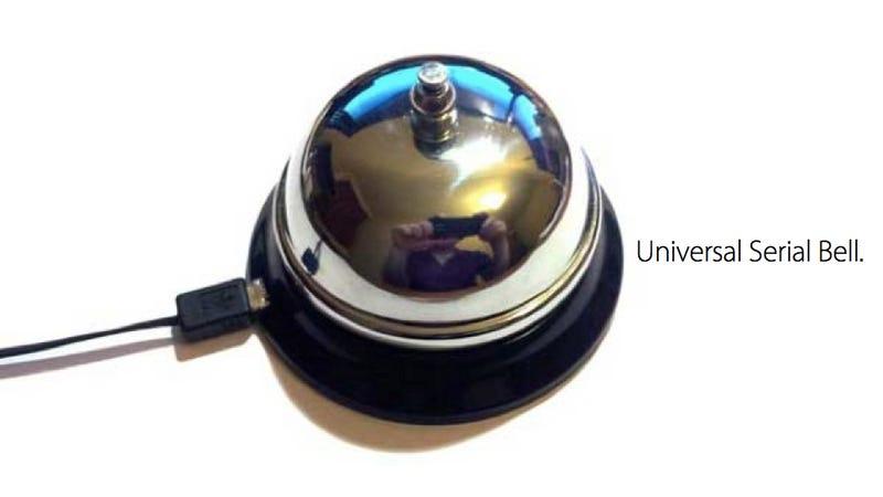 Illustration for article titled This Delightful USB Desk Bell Could Result In Violence