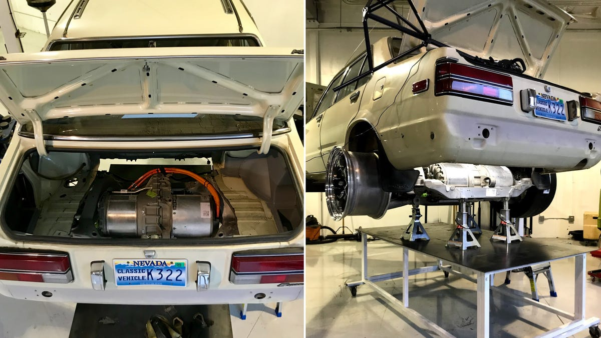 This Glorious Madman Stuffed A Tesla Drivetrain Into A 1981 Honda Accord