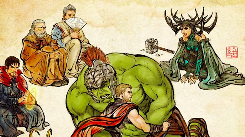 South Korea's Gorgeous Thor: Ragnarok Poster Is Based on a Classic Work of Art