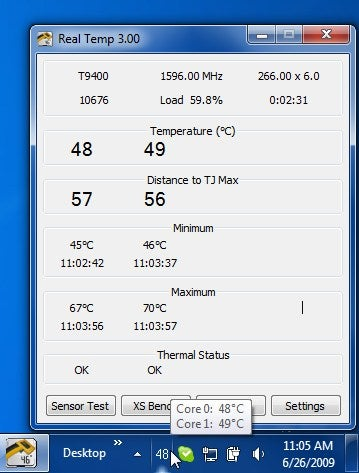 Real Temp Monitors Your Overheating Laptop CPU