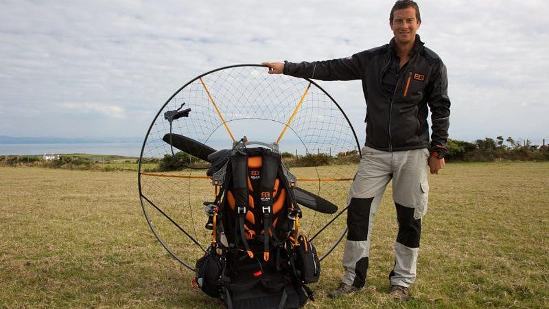 Bear Grylls pictured with the exact number of women on his new show