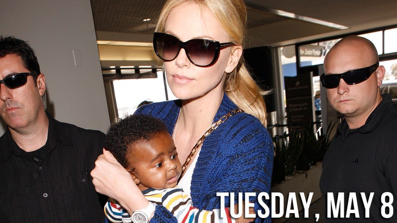 Illustration for article titled First Pics Show That Charlize Theron's Son Is in the Lead for Cutest Celebrity Baby