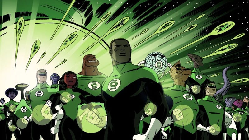 Illustration for article titled Report: Green Lantern Corps Movie Signs Writers, Will Be 'Lethal Weapon in Space'