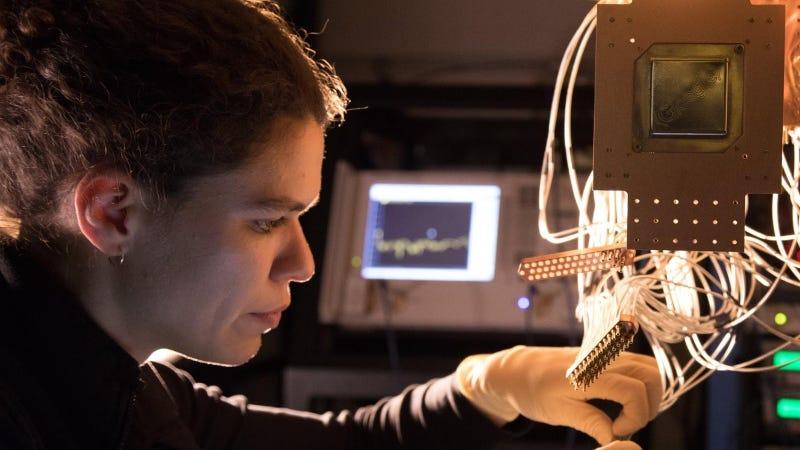Research scientist Marissa Giustina at Google's Quantum AI Lab in Santa Barbara, California.