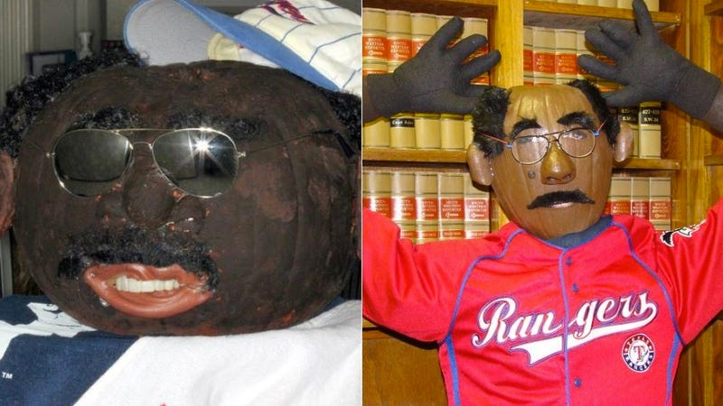 Illustration for article titled Texas Pumpkins Accused Of Racism Over Ron Washington Blackface Costumes