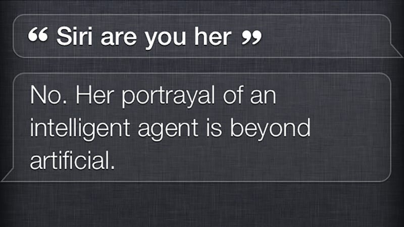 Illustration for article titled Wow, Siri Does Not Like Being Asked About Spike Jonze's Her