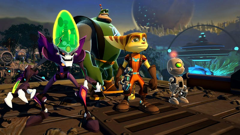 Illustration for article titled Ratchet & Clank: All 4 One Gives Me Warm Feelings Of Toobin', Gauntlet And Pixar