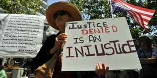 Trayvon Martin supporters rally in Oakland, Calif. (Josh Edelson/Getty Images)