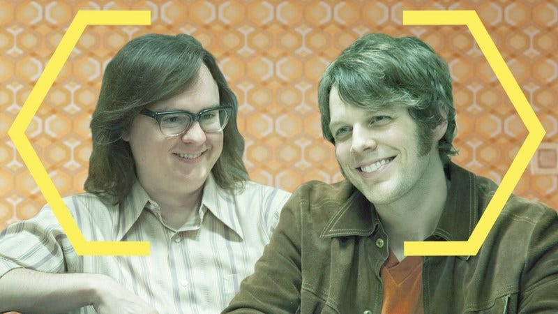 Clark Duke and Jake Lacy in I'm Dying Up Here (Photos: Showtime) Graphic: Nicole Antonuccio