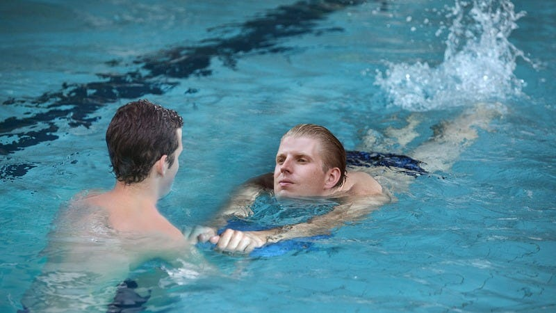 Eric Trump during swimming lessons.