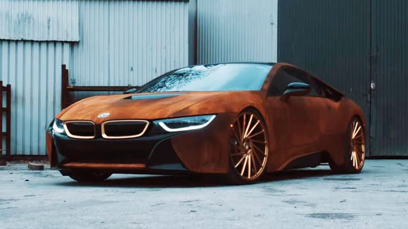 Worksheet. This Fake Rust BMW i8 Is Very Upsetting