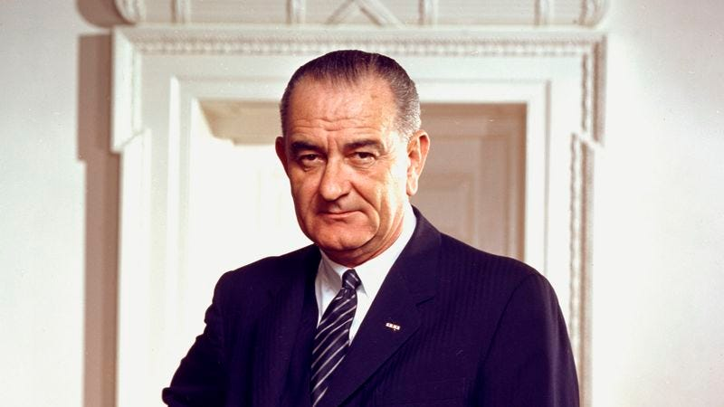 Illustration for article titled Lyndon Johnson Pulls Ahead In Poll Of Nation's Alzheimer's Patients